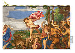 Bacchus And Ariadne Carry-all Pouch by Titian