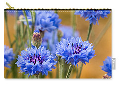 Bachelor Buttons In Blue Carry-all Pouch