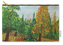Carry-all Pouch featuring the painting Back Country Place by Jack G Brauer