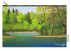 Carry-all Pouch featuring the painting Back Country Pond by Frank Wilson
