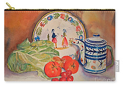 Carry-all Pouch featuring the painting Back From Market by Beatrice Cloake