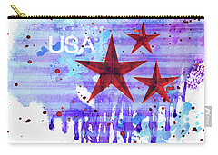 Carry-all Pouch featuring the painting Back In The Usa by Colleen Taylor