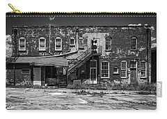 Carry-all Pouch featuring the photograph Back Lot - Bw by Christopher Holmes