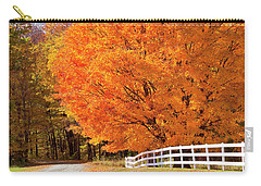 Back Road Autumn Maples Carry-all Pouch