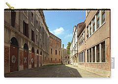 Carry-all Pouch featuring the photograph Back Street In Venice by Anne Kotan
