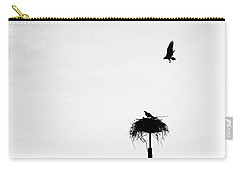 Carry-all Pouch featuring the photograph Back To The Nest by AJ Schibig