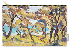 Backlight Olive Trees Marmari Beach Carry-all Pouch