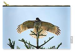 Backlit Landing Hawk Carry-all Pouch