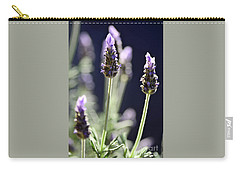 Carry-all Pouch featuring the photograph Backlit Lavender By Kaye Menner by Kaye Menner