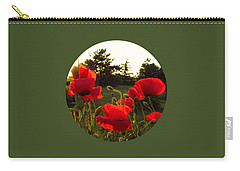 Backlit Red Poppies Carry-all Pouch