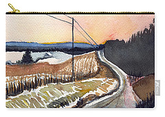 Backlit Roads Carry-all Pouch by Katherine Miller