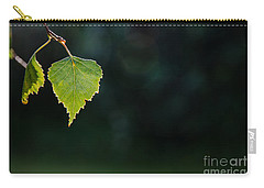 Carry-all Pouch featuring the photograph Backlit Shiny Leaf by Kennerth and Birgitta Kullman