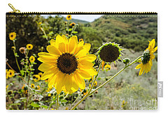 Backlit Sunflower Aka Helianthus Carry-all Pouch by Sue Smith