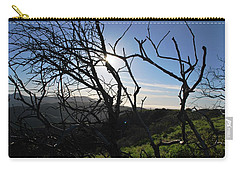 Carry-all Pouch featuring the photograph Backlit Trees Overlooking Hillside by Matt Harang
