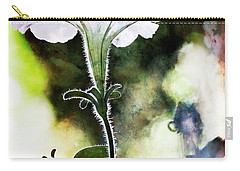 Backlit White Flower Carry-all Pouch