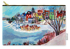 Backside Of Schenectady Stockade In February Carry-all Pouch