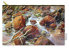 Backwater Sticks And Stones Carry-all Pouch by Rae Andrews