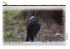 Backyard Crow Carry-all Pouch