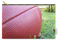 Carry-all Pouch featuring the photograph Backyard Football by Robert Knight