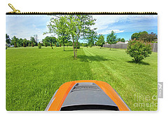 Carry-all Pouch featuring the photograph Backyard Mowing by Ricky L Jones