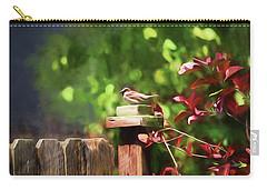 Backyard Songbird Carry-all Pouch by Bonnie Bruno