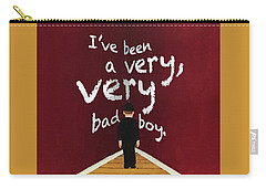 Bad Boy Greeting Card Carry-all Pouch by Thomas Blood