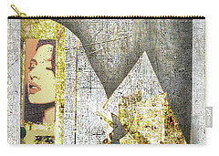 Carry-all Pouch featuring the mixed media Bad Luck by Tony Rubino