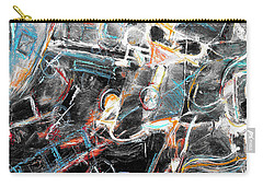 Carry-all Pouch featuring the painting Badlands 2 by Dominic Piperata