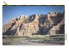 Carry-all Pouch featuring the photograph Badlands by Christopher Meade
