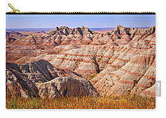 Carry-all Pouch featuring the photograph Badlands by Mary Jo Allen
