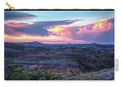 Badlands Sunrise Carry-all Pouch by Fiskr Larsen