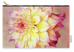 Carry-all Pouch featuring the photograph Bahama Mama Dahlia Square by Mary Jo Allen