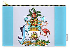 Carry-all Pouch featuring the drawing Bahamas Coat Of Arms by Movie Poster Prints