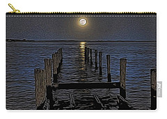 Bahamas Nocturne Woodblock  Carry-all Pouch