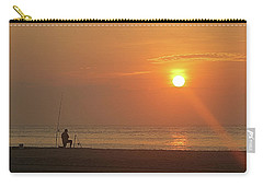 Baiting The Hook At Sunrise Carry-all Pouch by Robert Banach