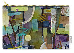 Carry-all Pouch featuring the painting Balancing Act by Hailey E Herrera