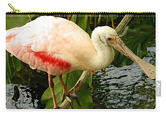 Balancing Act - Roseate Spoonbill Carry-all Pouch