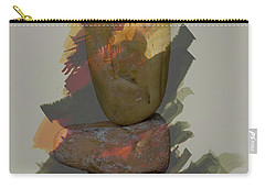 Carry-all Pouch featuring the photograph Balancing Stones by John Stuart Webbstock