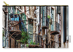 Balconies Of Palermo Carry-all Pouch by Patrick Boening