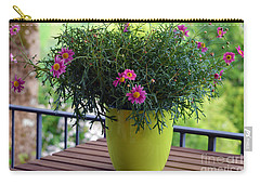 Carry-all Pouch featuring the photograph Balcony Flowers by Susanne Van Hulst