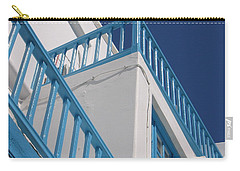 Blue And White In Mykonos Carry-all Pouch