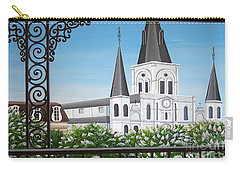 Balcony View Of St Louis Cathedral Carry-all Pouch