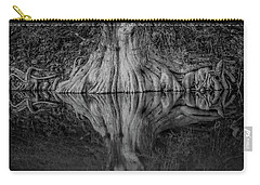 Bald Cypress Reflection In Black And White Carry-all Pouch