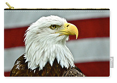 Bald Eagle And Old Glory Carry-all Pouch