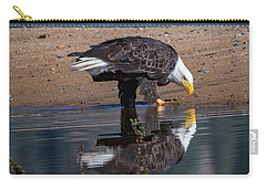 Bald Eagle And Reflection Carry-all Pouch
