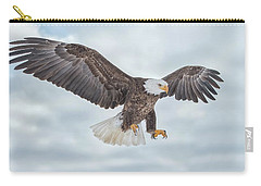 Bald Eagle Blue Sky Carry-all Pouch by CR Courson