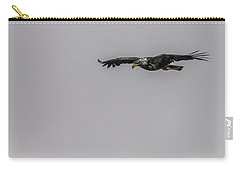 Bald Eagle Gliding Carry-all Pouch by Timothy Latta