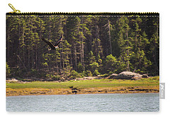 Carry-all Pouch featuring the photograph Bald Eagle In Flight by Trace Kittrell