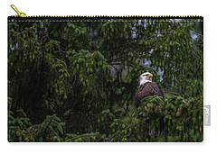 Bald Eagle In The Tree Carry-all Pouch