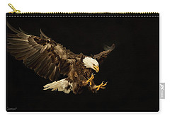 Bald Eagle On Black Carry-all Pouch